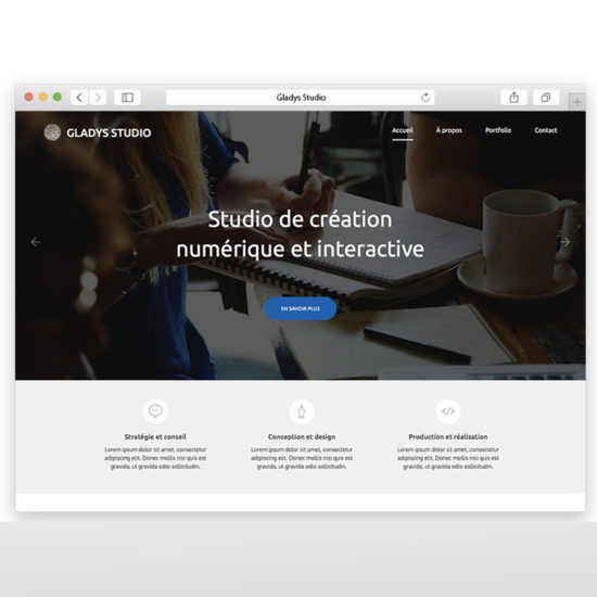 Site web Gladys Studio