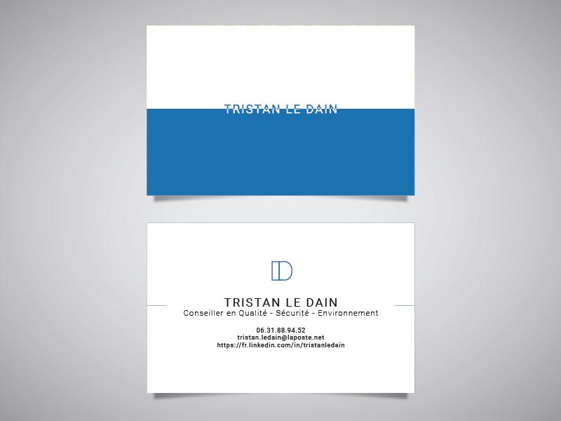 Carte visite Tristan Le Dain